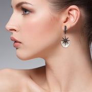 Sunburst White Mother Of Pearl Earring Rosegold - LATELITA