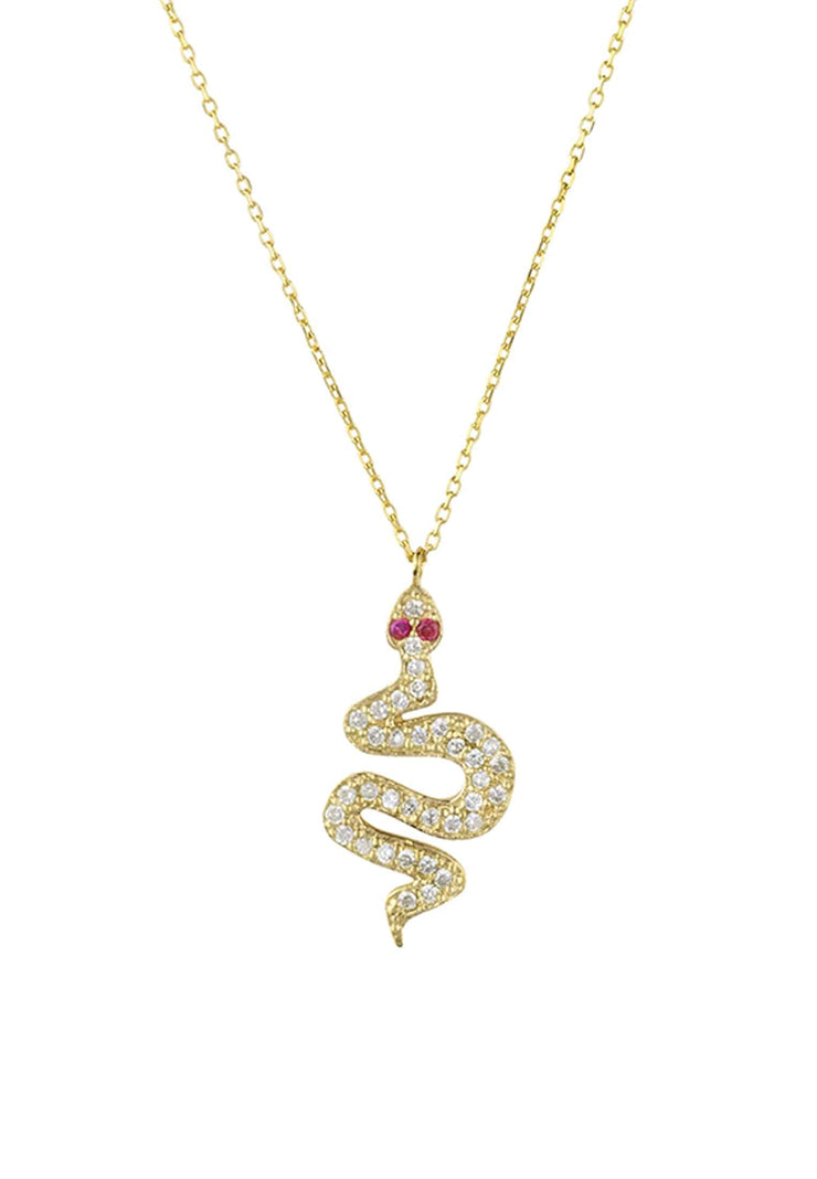 Snake Serpent Necklace Gold - LATELITA