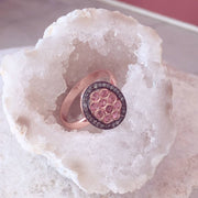 Diamond Pink Tourmaline Oval Ring - LATELITA
