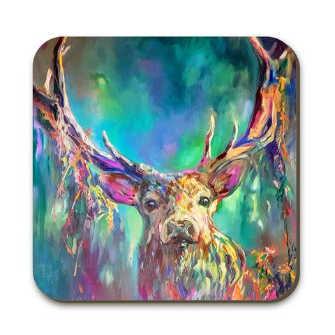 Coaster - Woodland Stag by Sue Gardner