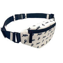Load image into Gallery viewer, Elusive 2.0 Belt Bag in White & Black (Black Hardware) - Smell Proof Belt Bag