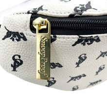 Load image into Gallery viewer, Elusive 2.0 Belt Bag in White & Black (Gold Hardware) - Smell Proof Belt Bag