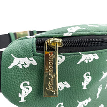 Load image into Gallery viewer, Elusive 2.0 Belt Bag in Green & White - Smell Proof Belt Bag