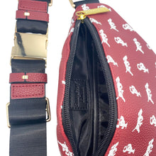 Load image into Gallery viewer, Elusive 2.0 Belt Bag in Maroon & White - Smell Proof Belt Bag