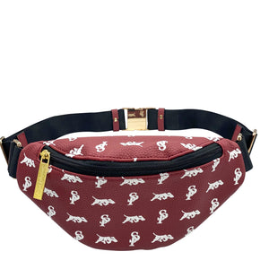 Elusive 2.0 Belt Bag in Maroon & White - Smell Proof Belt Bag