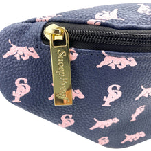 Load image into Gallery viewer, Elusive 2.0 Belt Bag in Navy Blue & Pink - Smell Proof Belt Bag
