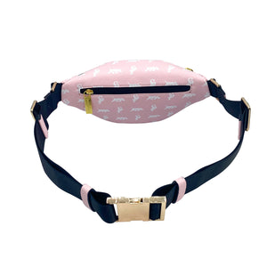 Elusive 2.0 Belt Bag in Pink & White - Smell Proof Belt Bag