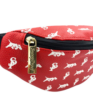 Elusive 2.0 Belt Bag in Red & White - Smell Proof Belt Bag