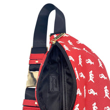 Load image into Gallery viewer, Elusive 2.0 Belt Bag in Red & White - Smell Proof Belt Bag