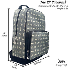 Load image into Gallery viewer, The SP BackPack in Grey & White