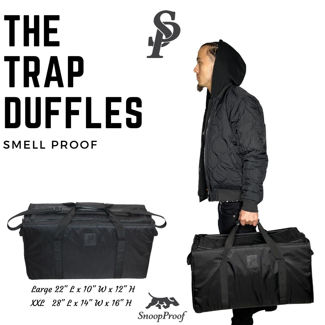 The Trap Duffle (L) in Black - Smell Proof Duffle Bag