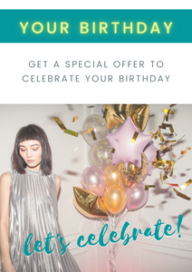 Sign up for birthday offers!