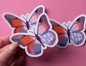 Abstract Butterfly Sticker