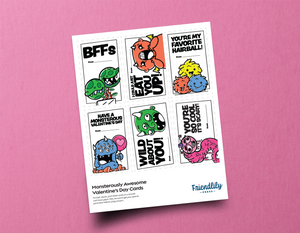 Monsterously Awesome Downloadable Valentine's Day Cards
