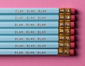 Blah, Blah, Blah Pencil Pack PREORDER