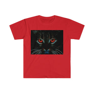 Cat Face Fitted Short Sleeve Tee