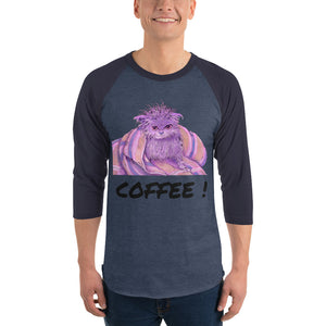 Coffee Cat - Baseball Tee