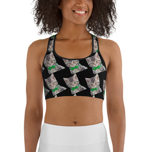 Bowtie Kittens Sports bra