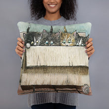Load image into Gallery viewer, Box of Kittens Throw Pillow