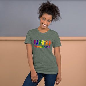 Rainbow Cats - Short-Sleeve Unisex T-Shirt