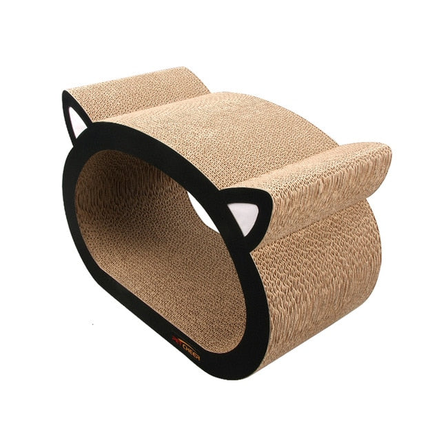 48X23X32CM Cat Cardboard Scratcher Fat Cat Bed Kitten Scratching Pad