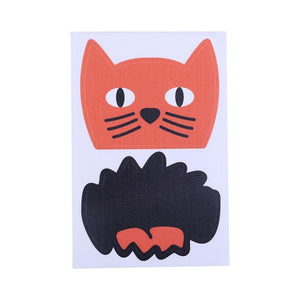 5Pcs Funny Cat Face Sticker