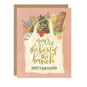 Market Bag Birthday Card