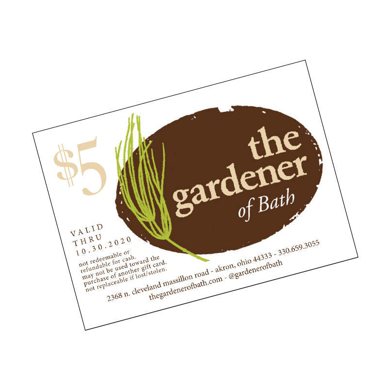 Gardener of Bath Gift Card