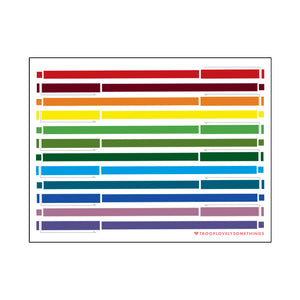 Le Pen Rainbow Postcard