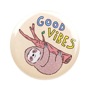 Good Vibes Sloth Pin