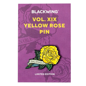 Blackwing Yellow Rose Pin