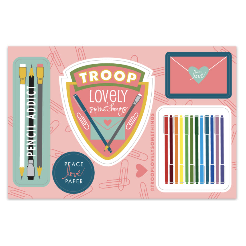 Troop LS Sticker Sheet