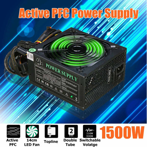 LEORY 1500W PC PSU Power Supply Active PFC