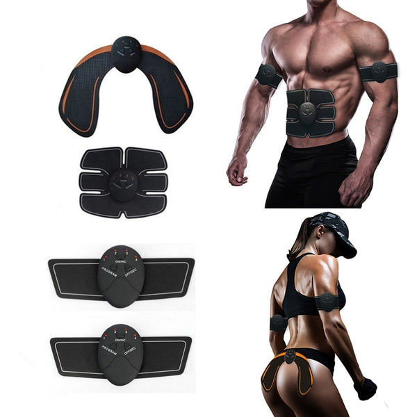 Abdominal Muscle Trainer Electric Massage Stimulator Vibration Body Slimming Machine Fat Burning Fitness  Training Hip Workout