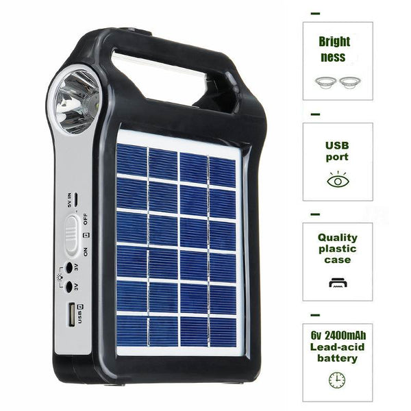 USB Charger 6V Solar Panel Power Storage Generator