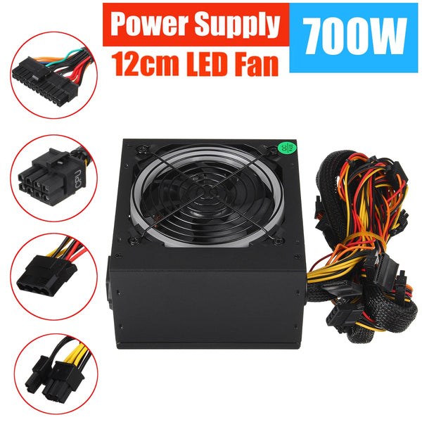 700W 115230V Power Supply PSU PFC 12cm LED