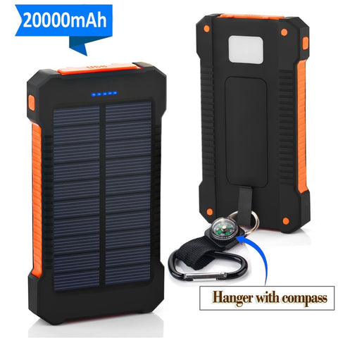 20000mAh Portable External Battery Poverbank Solar Power