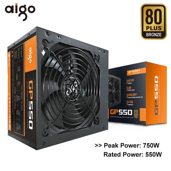 Aigo GP550 Desktop Power Supply 750W 80PLUS BRONZE