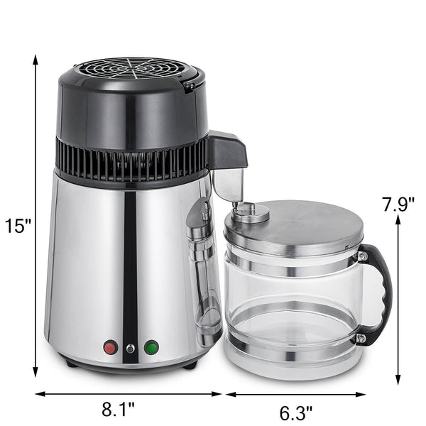 4L Dental Water Distiller PureWater Purifier Filter