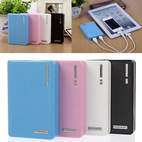 1 PC Dual USB Power Bank 4x 18650 External Backup Battery Charger
