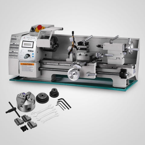 750W  Metal Lathe Processing Variable Speed  high-Precision  Shop Benchtop