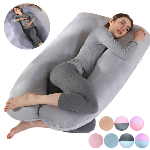 Full Body Pregnancy Pillow U Shape Maternity Support