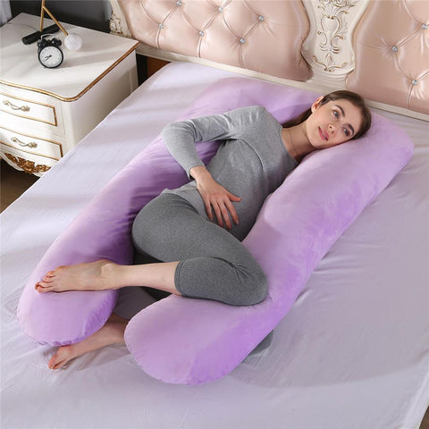 Full Body Pregnancy Pillow U Shaped Full Cotton Removable