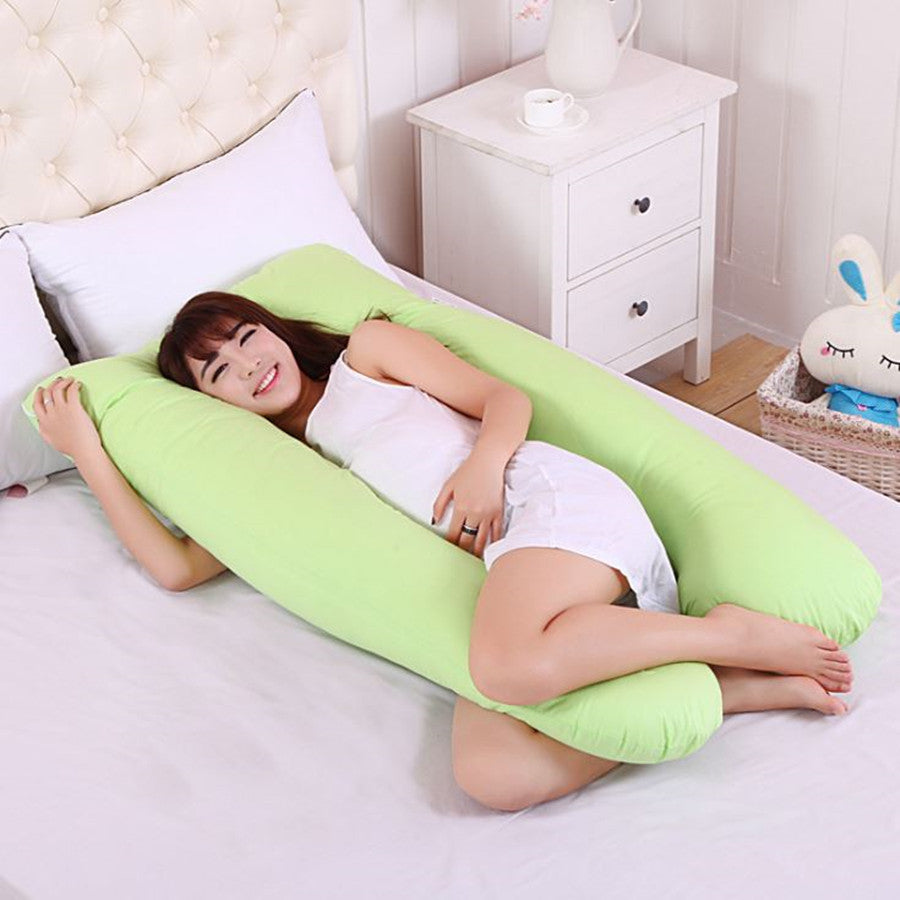 Pregnancy Pillow  Comfortable U Shape Pillow Full Body Cushion Sleeping Support