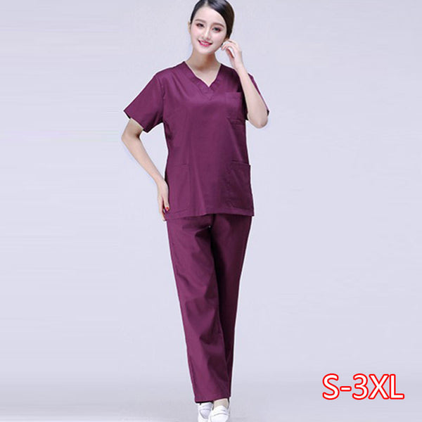 Hospital Doctor Nurse Short-sleeved Medical Uniform Tops/suits Dental