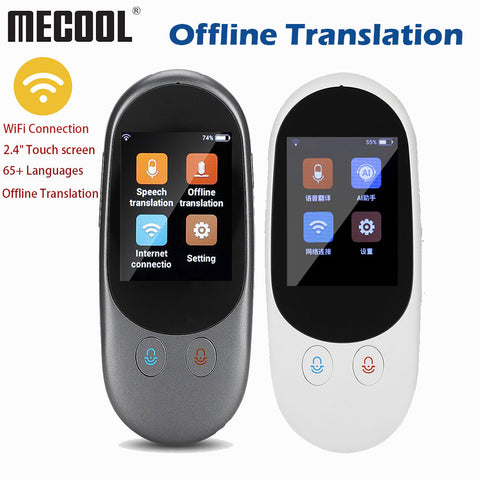 Portable Voice Translator Mini Pocket Real Time Multi Languages Offline Wifi Online Travel Tradutor Interpreter Machine