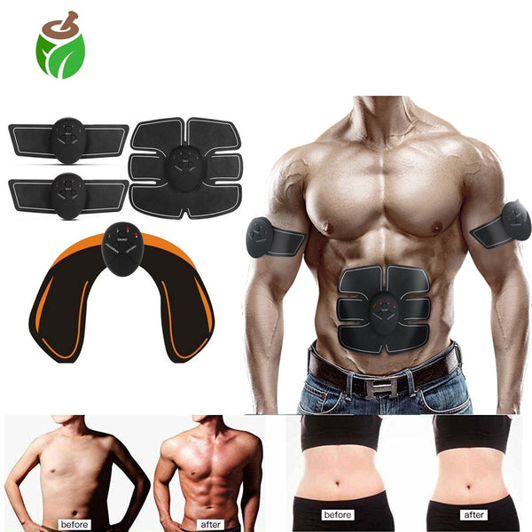 EMS Wireless Muscle Stimulator Trainer Electric Weight Loss Stickers Abdominal Training Body Slimming Belt Unisex Smart Fitness