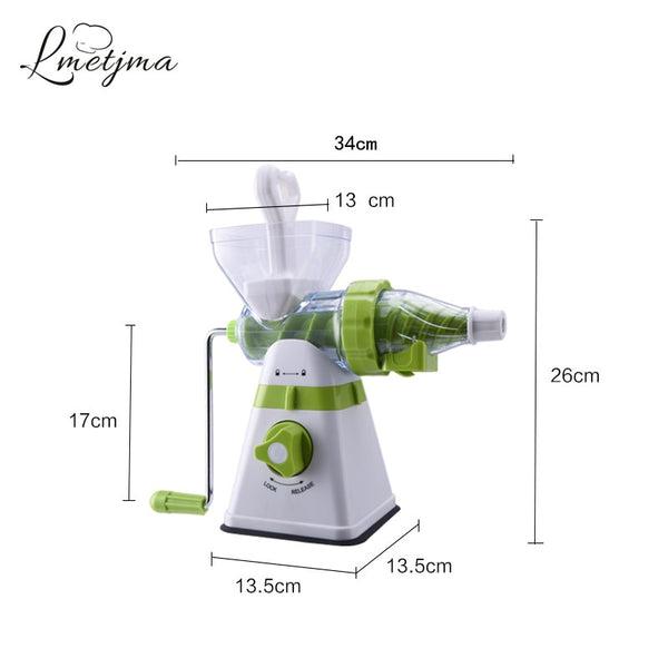 LMETJMA Manual Fruit Juicer Heavy Duty Manual Juicer Stainless