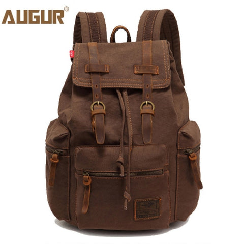 AUGUR women and men's vintage canvas bag laptop