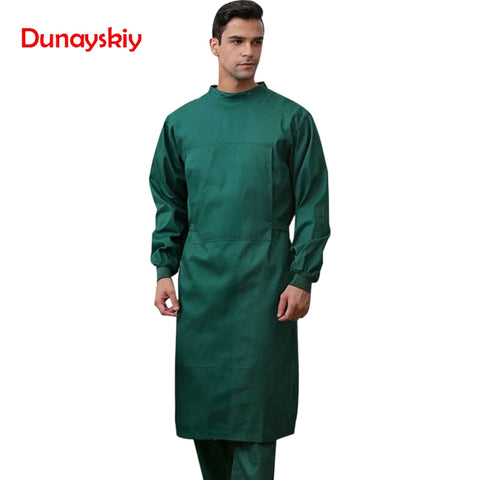 NEW Long Surgical Surgeon Gown Medical Clothing Reinforced Protective Gown